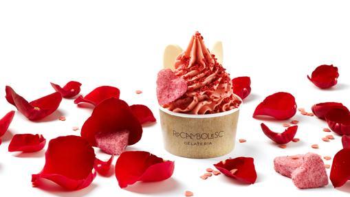 El sorbete de fresas y rosas de edición limitada de Rocambolesc
