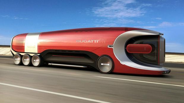 Prathyush Devadas crea el boceto de un camión Bugatti futurista