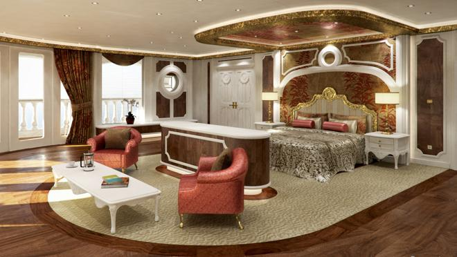 Recreation of one of the VIP suites