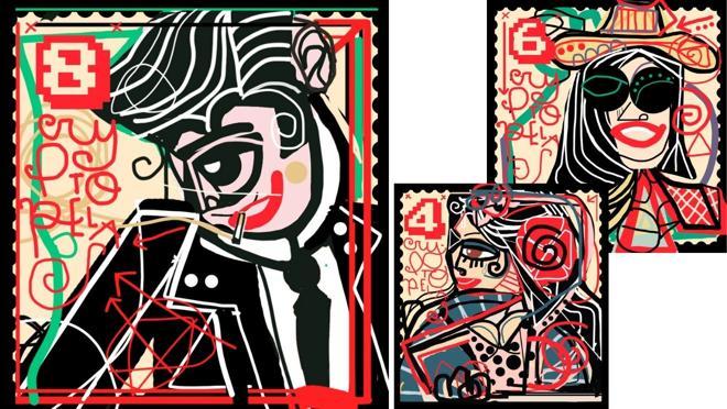 Algunas de las obras de la exposición