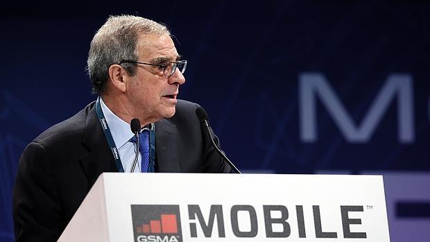 César Alierta, máximo responsable de Telefonica, durante su intervención