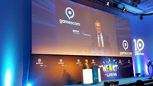 J0an Guirao, ministro de Cultura y Deporte, durante su intervención en la Gamescom