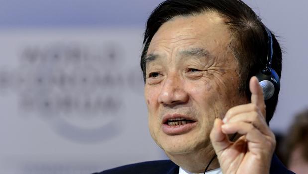 Ren Zhengfei, fundador de Huawei, durante una intervención pública