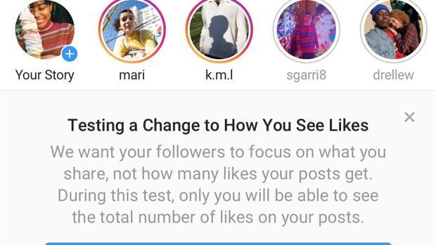 Instagram elimina los «Me gusta» en todo el mundo