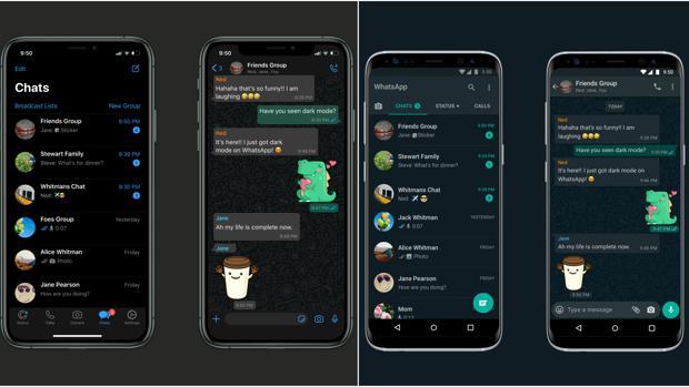 Modo oscuro: la funcionalidad más esperada de WhatsApp llega a iPhone y a Android