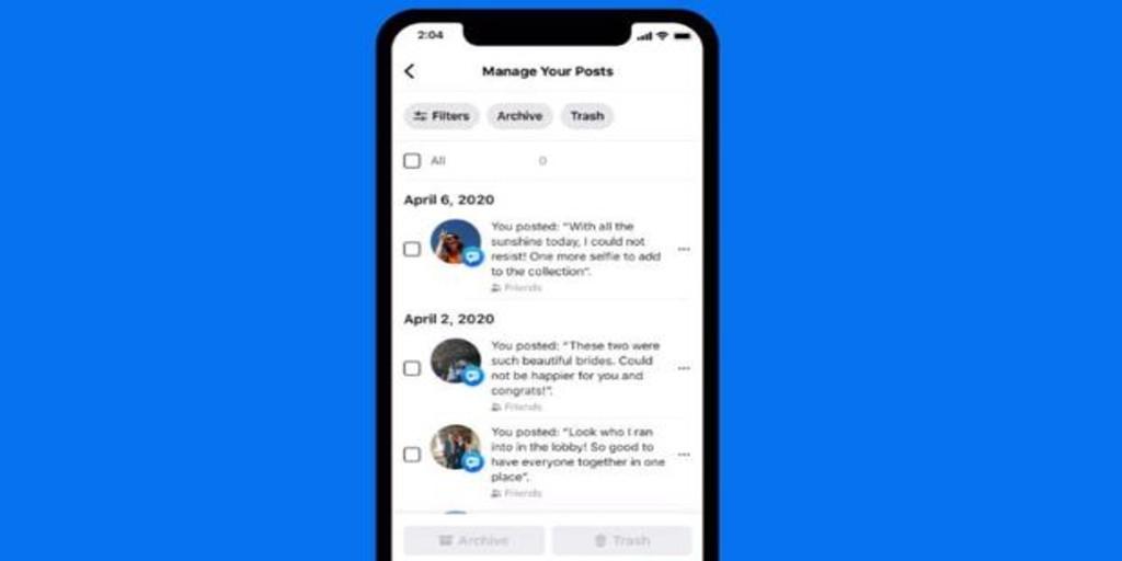 Cómo eliminar tus publicaciones antiguas en Facebook