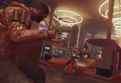 Captura de pantalla de 'Deathloop'