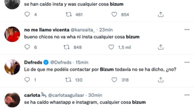 Bizum se convierte en tendencia en Twitter tras la caída de Whatsapp