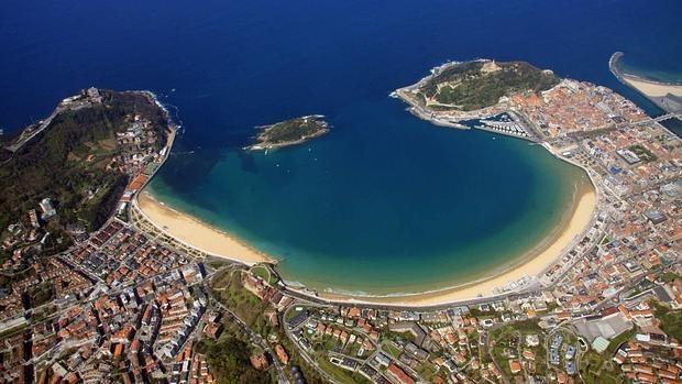 La inconfundible bahía de San Sebastián