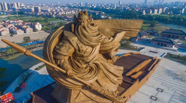 Foto subida a la red social Imgur de la estatua de Guan Yu en Jinzhou