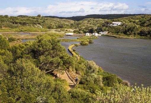 S'Albufera des Grau, al noreste de Menorca