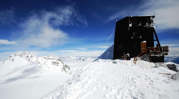 La Cabaña Margherita, el hotel más alto de Europa, ubicada en una de las cumbres del Macizo del monte Rosa